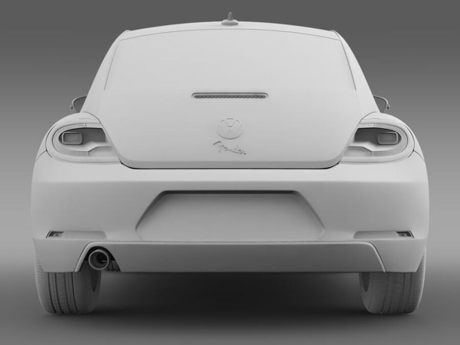 VW Beetle Fender Edition 2012 royalty-free 3d model - Preview no. 18