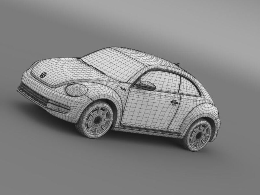 VW Beetle Fender Edition 2012 royalty-free 3d model - Preview no. 19