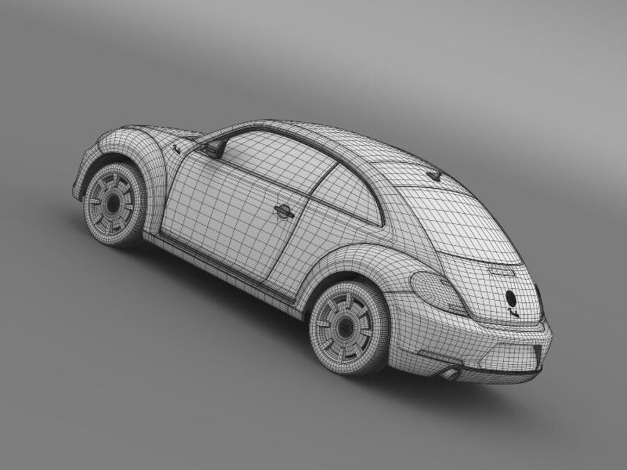 VW Beetle Fender Edition 2012 royalty-free 3d model - Preview no. 21