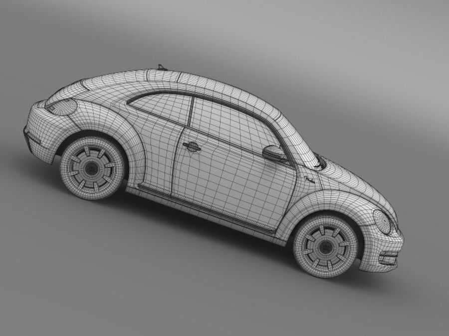 VW Beetle Fender Edition 2012 royalty-free 3d model - Preview no. 23