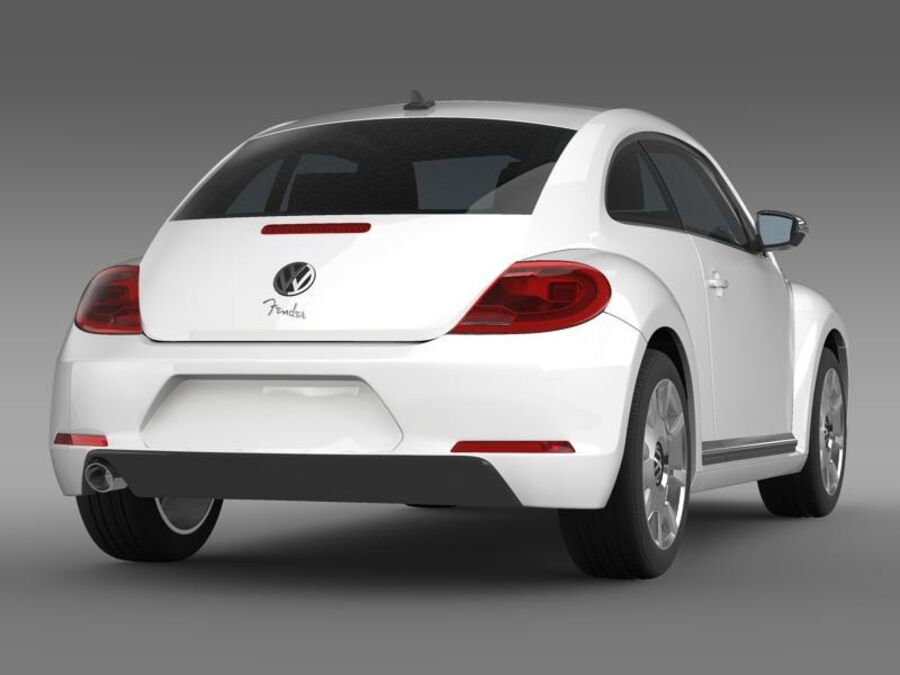 VW Beetle Fender Edition 2012 royalty-free 3d model - Preview no. 7
