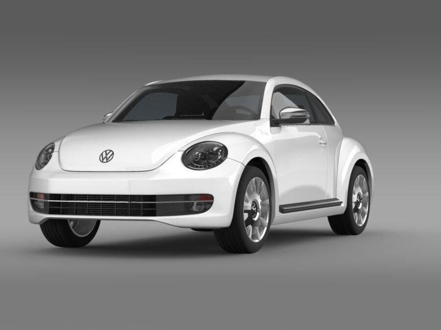VW Beetle Fender Edition 2012 royalty-free 3d model - Preview no. 2