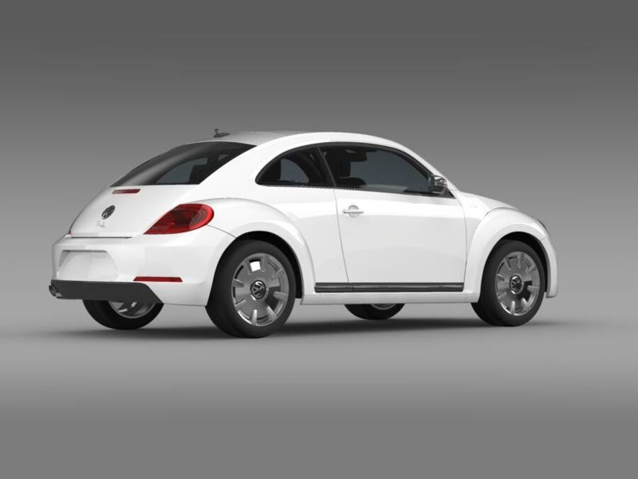 VW Beetle Fender Edition 2012 royalty-free 3d model - Preview no. 9