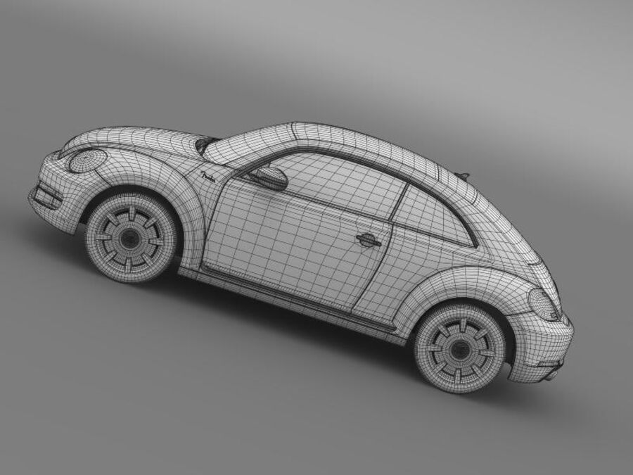 VW Beetle Fender Edition 2012 royalty-free 3d model - Preview no. 20