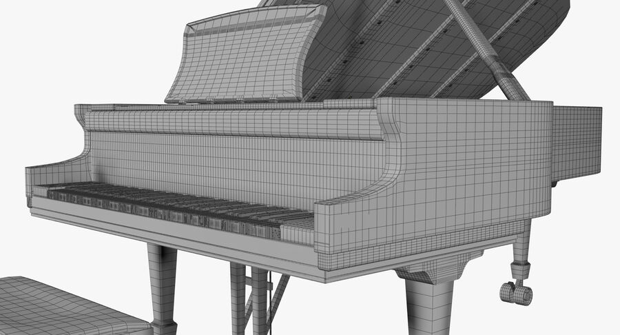 Piano Steinway Concert Grand Model D royalty-free 3d model - Preview no. 11