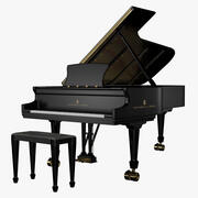 Piano Steinway Concert Grand Model D 3d model