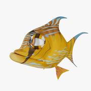 Pomarańczowa ryba 2 3d model