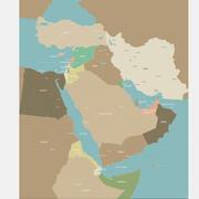 Mapa Bliskiego Wschodu 3d model