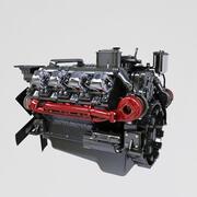 Moteur diesel Kamaz 3d model