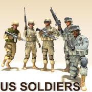 Collection de soldats américains 3d model