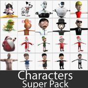 Tecken Super Pack 3d model