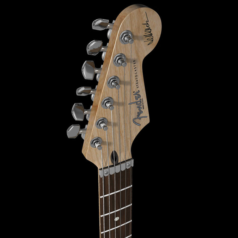 Fender Guitars Collection royalty-free 3d model - Preview no. 50