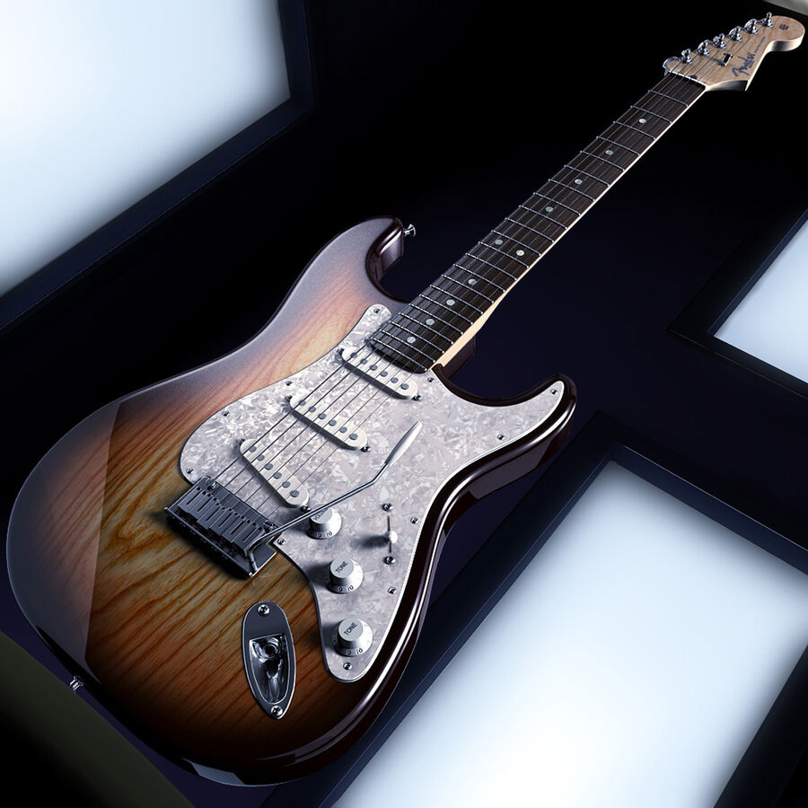 Fender Guitars Collection royalty-free 3d model - Preview no. 2