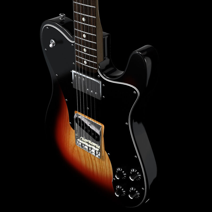 Fender Guitars Collection royalty-free 3d model - Preview no. 20