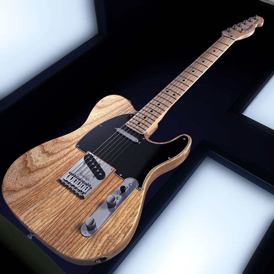 Fender Guitars Collection royalty-free 3d model - Preview no. 12