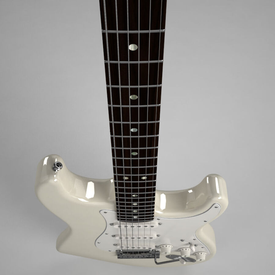 Fender Guitars Collection royalty-free 3d model - Preview no. 48