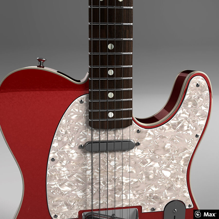 Fender Guitars Collection royalty-free 3d model - Preview no. 31