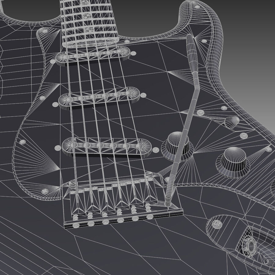 Fender Guitars Collection royalty-free 3d model - Preview no. 8