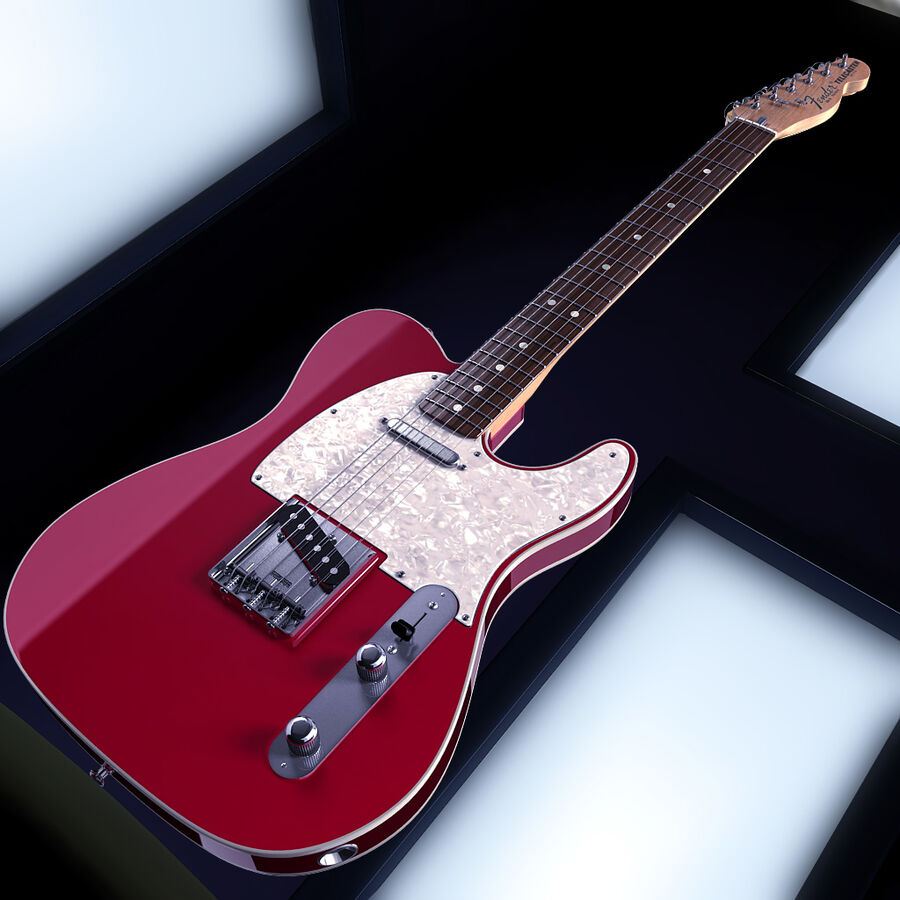 Fender Guitars Collection royalty-free 3d model - Preview no. 26