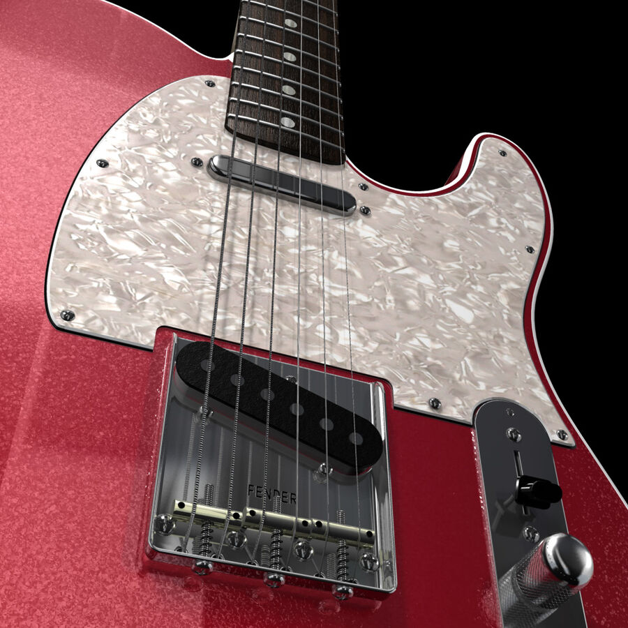 Fender Guitars Collection royalty-free 3d model - Preview no. 29