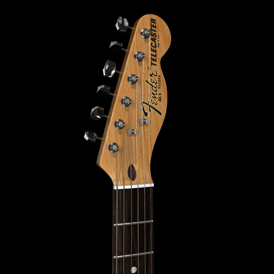 Fender Guitars Collection royalty-free 3d model - Preview no. 30