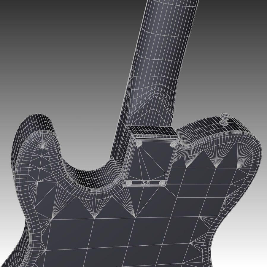 Fender Guitars Collection royalty-free 3d model - Preview no. 17