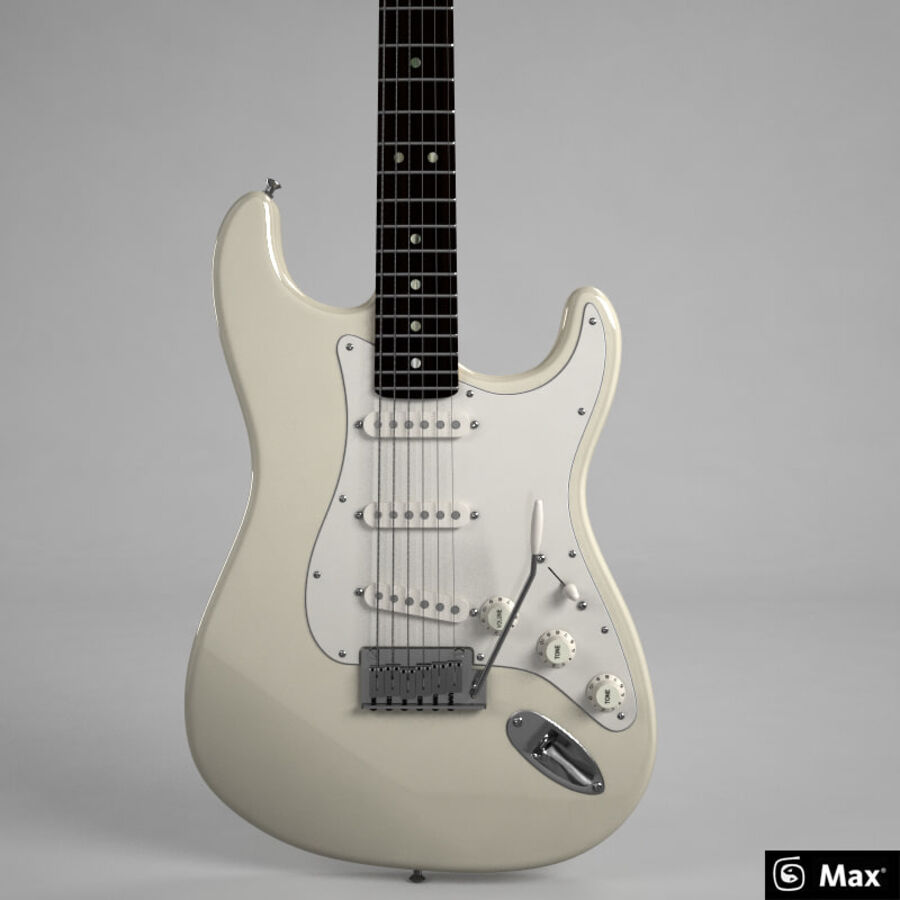 Fender Guitars Collection royalty-free 3d model - Preview no. 47