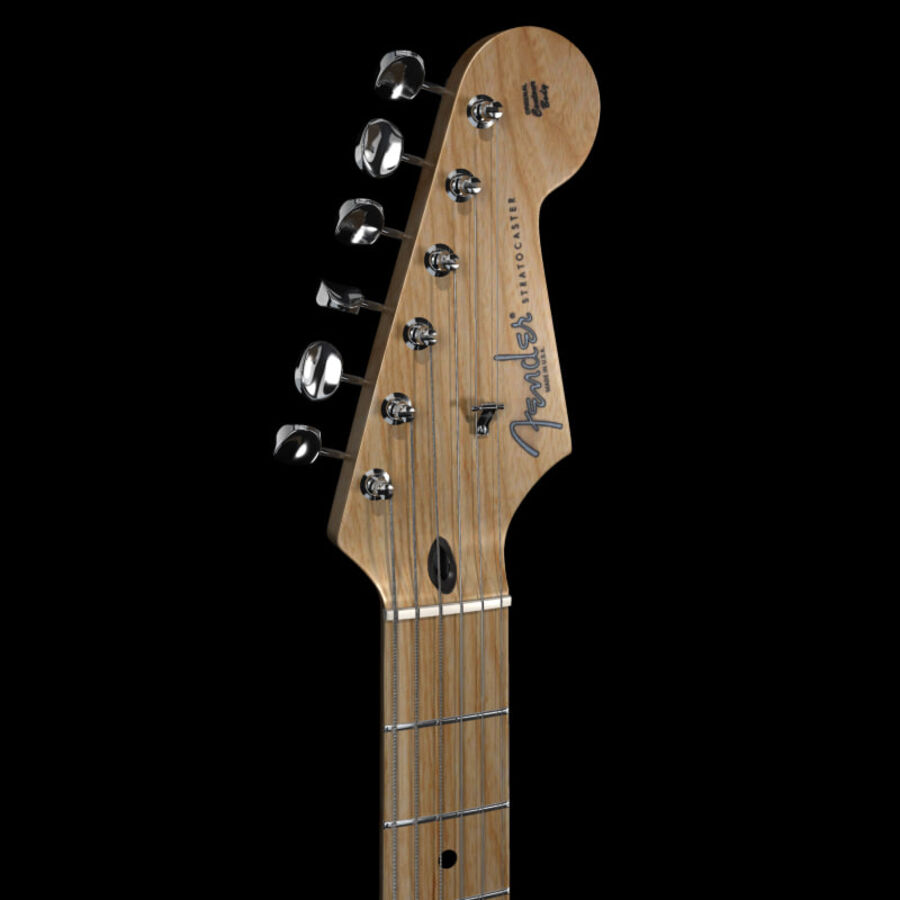 Fender Guitars Collection royalty-free 3d model - Preview no. 41
