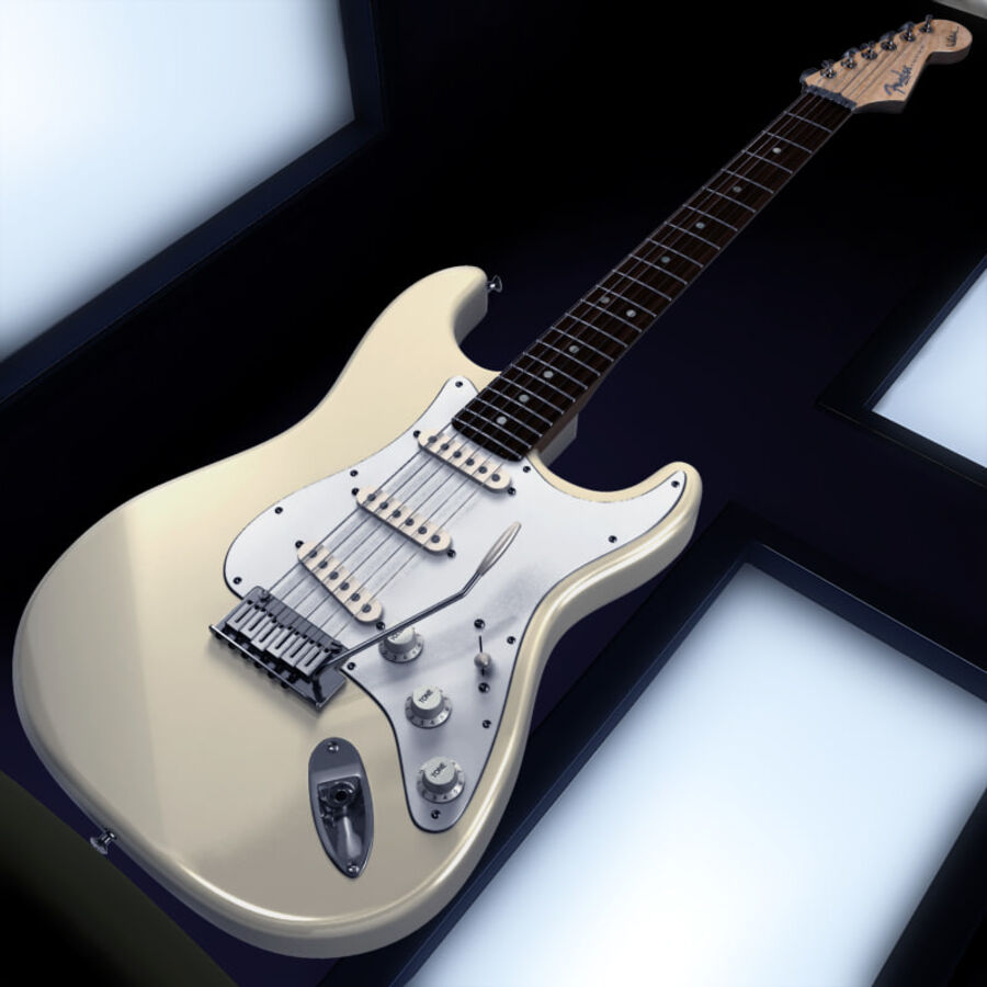 Fender Guitars Collection royalty-free 3d model - Preview no. 46
