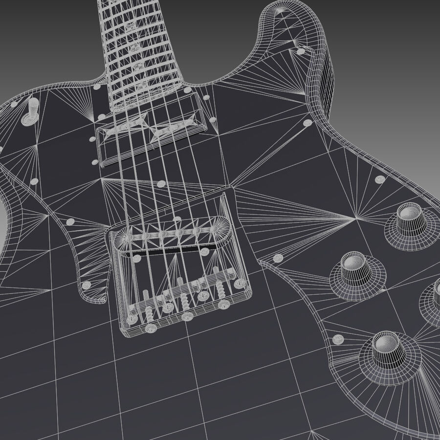 Fender Guitars Collection royalty-free 3d model - Preview no. 25