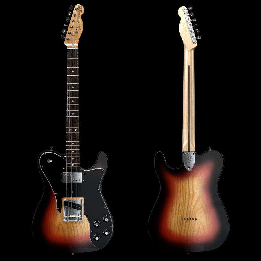 Fender Guitars Collection royalty-free 3d model - Preview no. 21