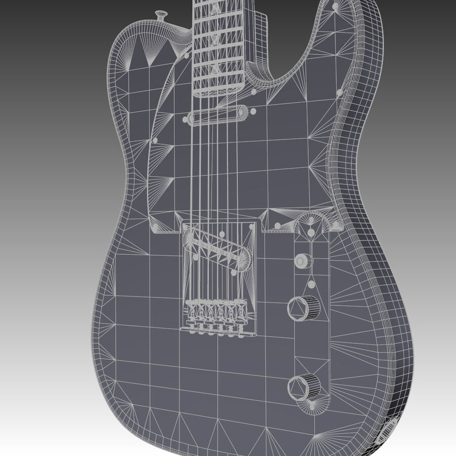 Fender Guitars Collection royalty-free 3d model - Preview no. 16