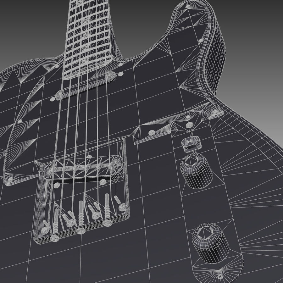 Fender Guitars Collection royalty-free 3d model - Preview no. 32