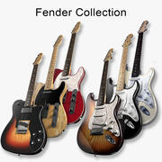 Fender Guitars Collection 3d model