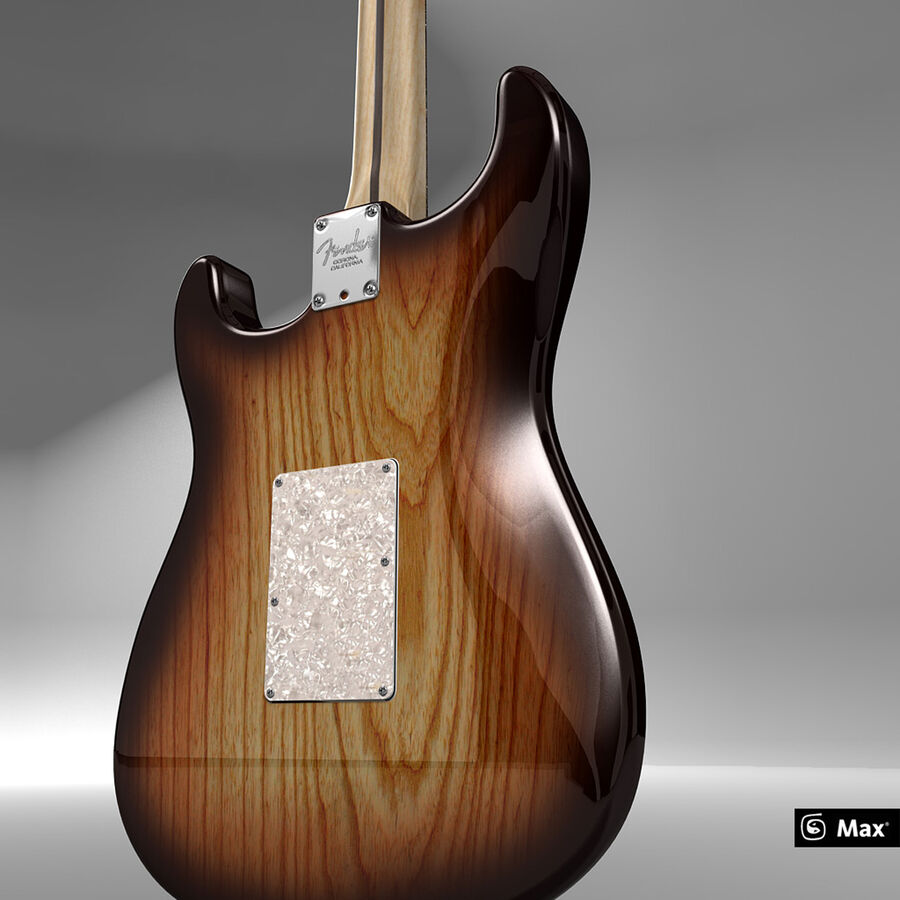 Fender Guitars Collection royalty-free 3d model - Preview no. 4