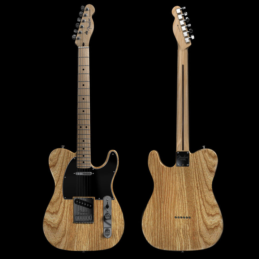 Fender Guitars Collection royalty-free 3d model - Preview no. 14