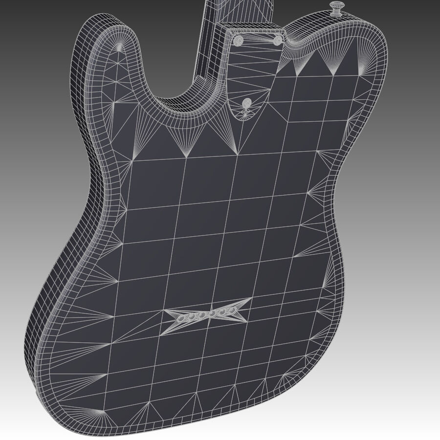 Fender Guitars Collection royalty-free 3d model - Preview no. 24