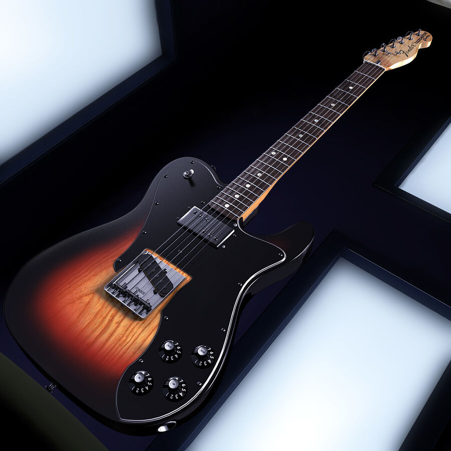 Fender Guitars Collection royalty-free 3d model - Preview no. 22