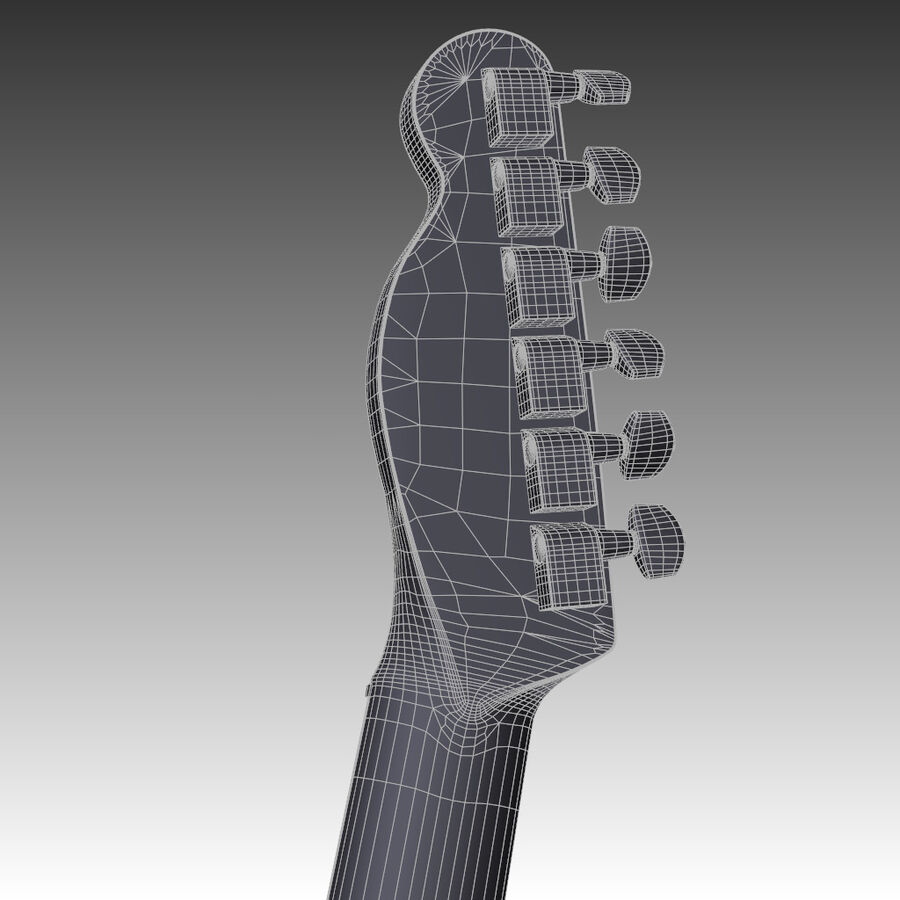 Fender Guitars Collection royalty-free 3d model - Preview no. 18