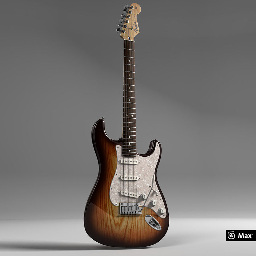 Fender Guitars Collection royalty-free 3d model - Preview no. 3