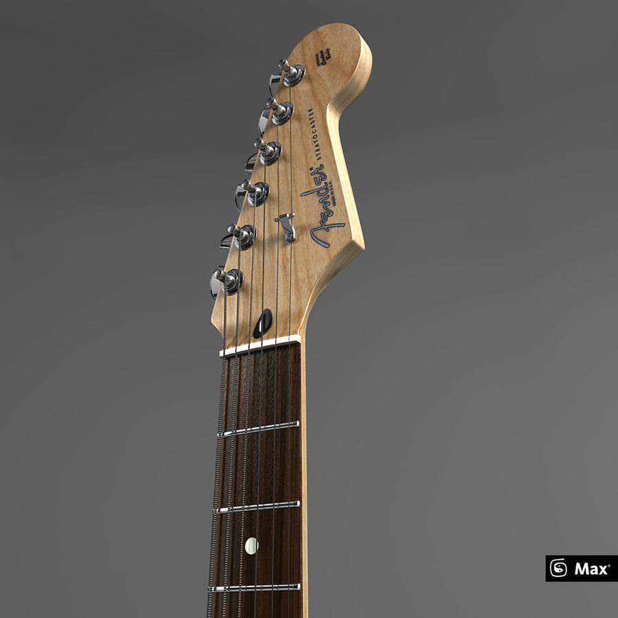 Fender Guitars Collection royalty-free 3d model - Preview no. 7