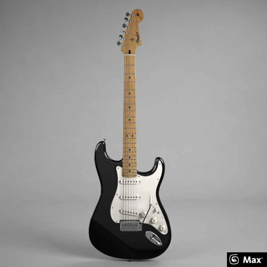 Fender Guitars Collection royalty-free 3d model - Preview no. 36