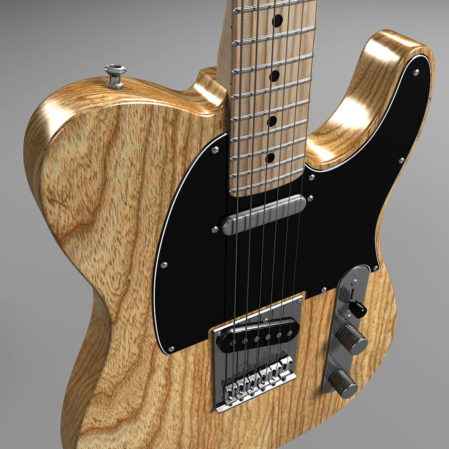 Fender Guitars Collection royalty-free 3d model - Preview no. 13