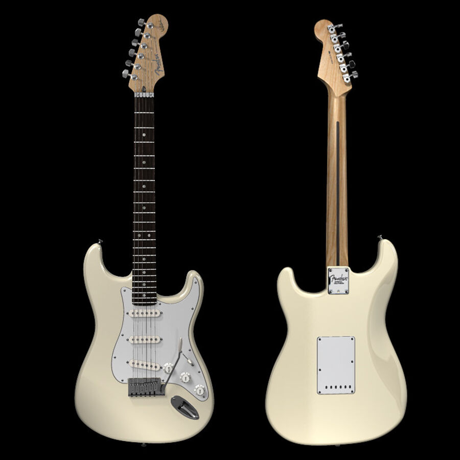 Fender Guitars Collection royalty-free 3d model - Preview no. 51
