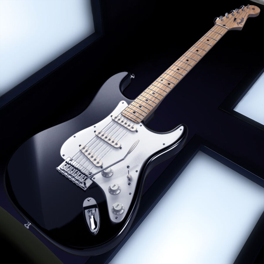 Fender Guitars Collection royalty-free 3d model - Preview no. 35