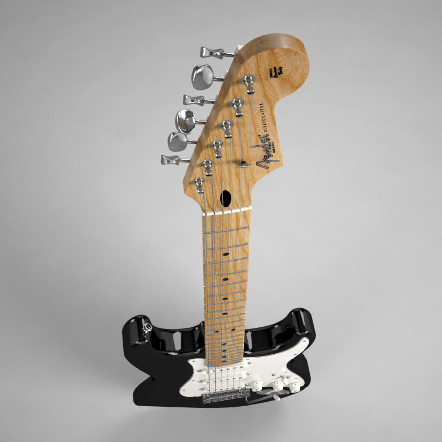 Fender Guitars Collection royalty-free 3d model - Preview no. 37