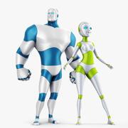 家族ロボット 3d model