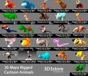 Kolekcja zwierząt kreskówek 3d model