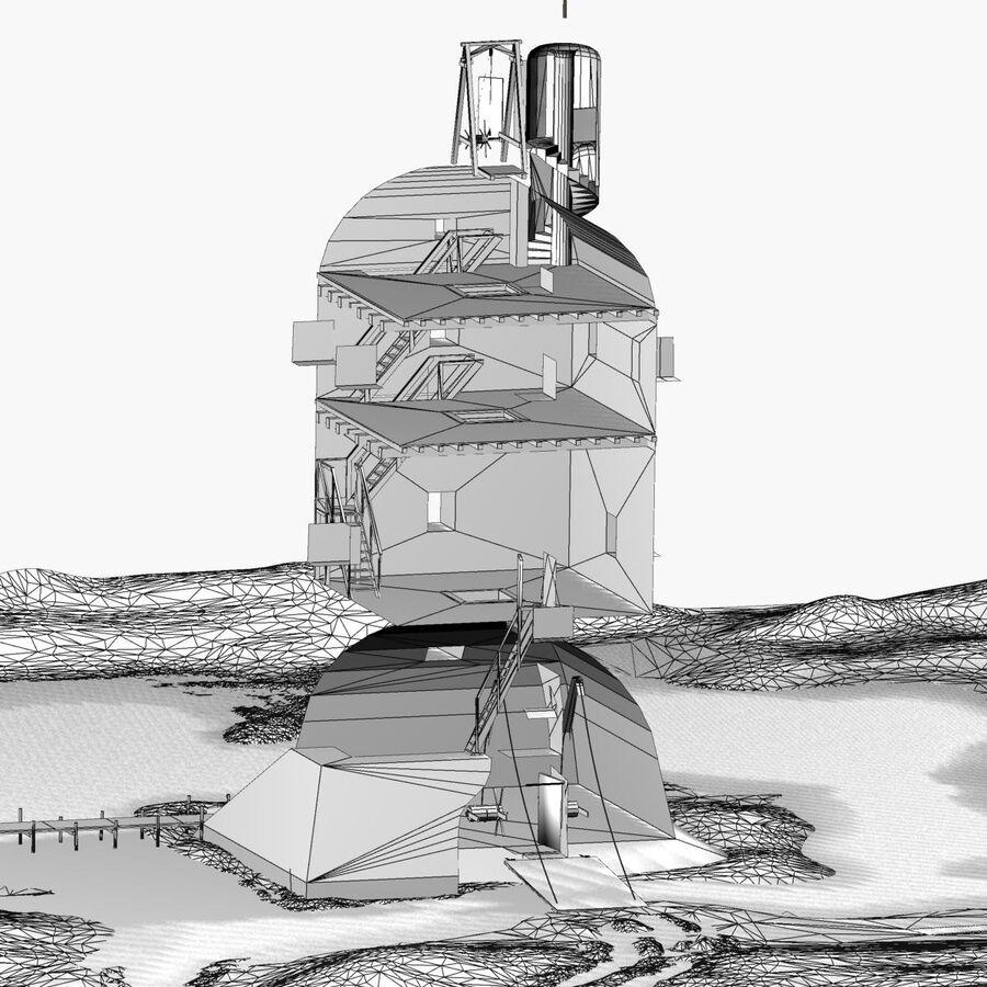 Średniowieczna wieża XV wieku royalty-free 3d model - Preview no. 31
