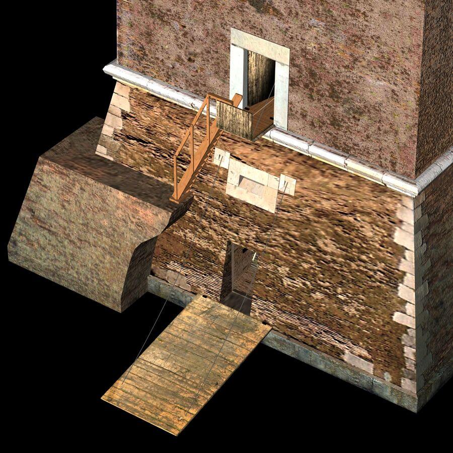 Średniowieczna wieża XV wieku royalty-free 3d model - Preview no. 13